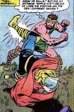 The first battle between Hercules and Thor.