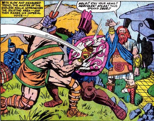 Zeus - Watching his son Hercules do battle