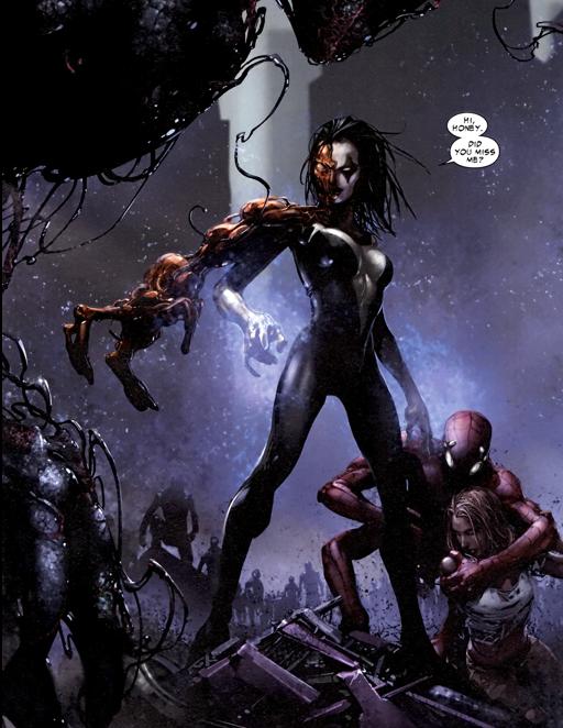 Shriek merges with the symbiote arm