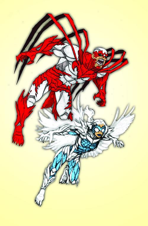 Needham Comics' New 52 Redesign of Hawk and Dove WIP
