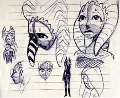 Original Ahsoka Concept Art