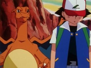 Ash leaves Charizard.