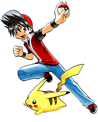 Red and Pika from 'Pokemon Adventures'