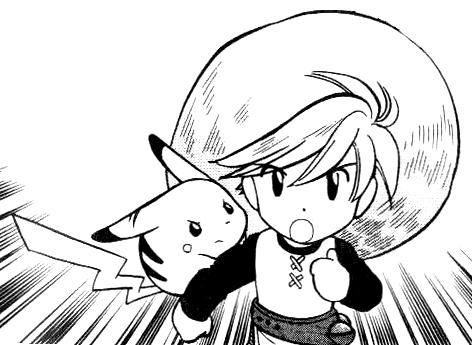 Yellow and Chuchu from 'Pokemon Adventures'