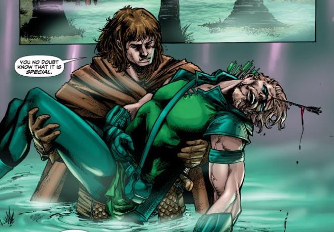 Healing Green Arrow