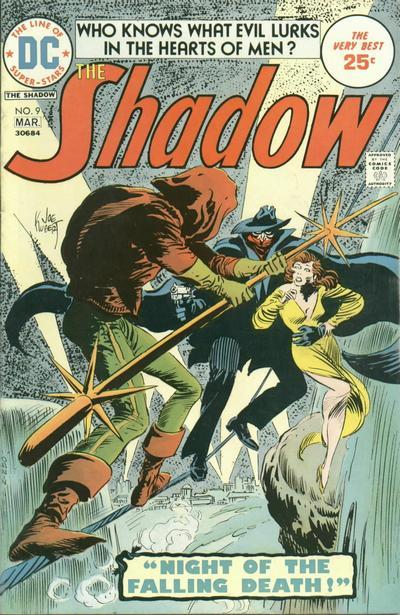 Michael Uslan's first comic book, The Shadow #9. Cover by Joe Kubert.