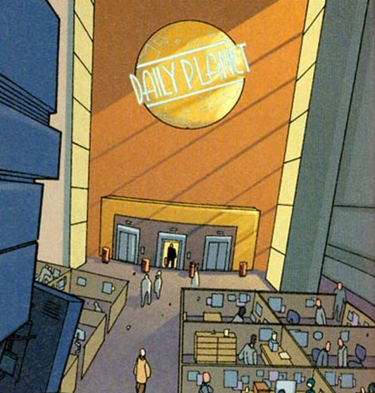 Lobby of the Daily Planet