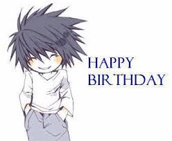 L wishes you a happy birthday.