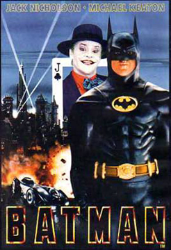 Batman and the Joker as played by Michael Keaton and Jack Nicolson