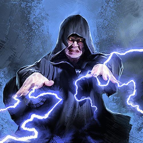 Darth Sidious utilizing Force Lightning