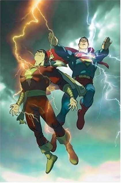 DC's mightiest heroes - Captain Marvel and Superman