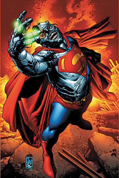 Cyborg Superman vs Green Lantern Corps