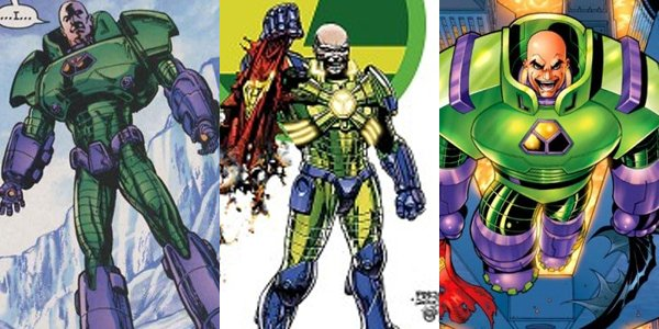 An example of some of Lex's past Battle Armours.