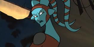 Aayla in the 2003 Clone Wars series.