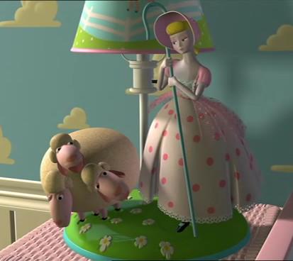 As a porcelain lamp