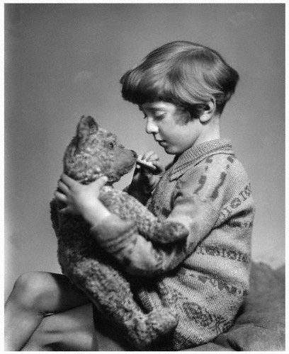 Christopher Robin Milne and Edward Bear (Winnie The Pooh).