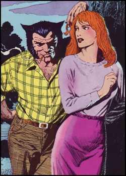 Logan meeting Jean Grey.