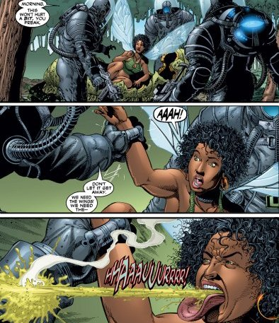 Angel displays her acidic spit for the first time and attacks the U-Men.