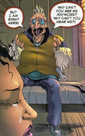 An unhinged Beak tries to speak to Angel.