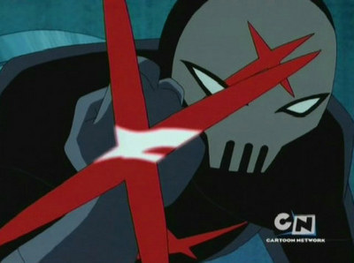 Red X in episode 2 from season 3.