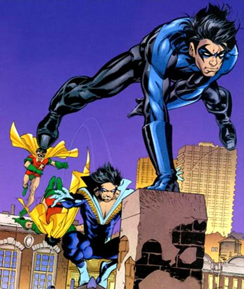 Dick's progression into Nightwing.
