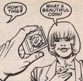 Bruce gives Alice a gift for Harvey