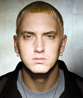 The picture is of blonde Eminem for a reason...