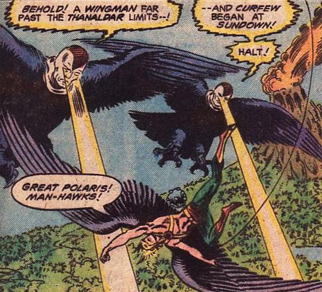 Hawkman vs. the Manhawks