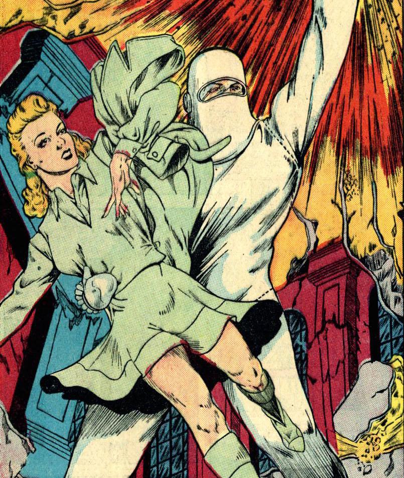 Human Bomb and fiancee Jean Adams