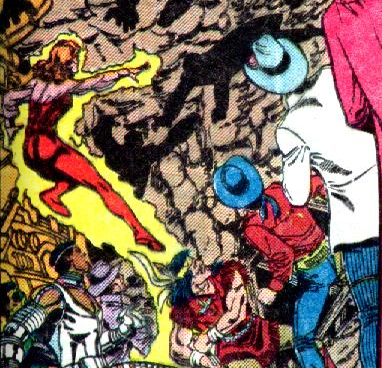 Firebrand and the other western heroes vs. the Shadow Demons