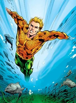 Aquaman returns to his classic look with magical water replacing his hand