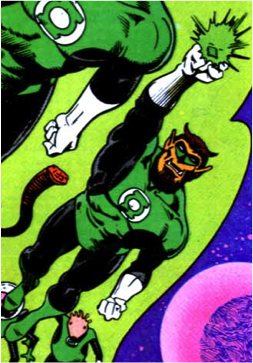 With the Green Lantern Corps