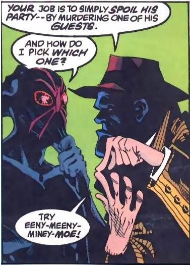Black Mask gives LaMonica his first assignment.