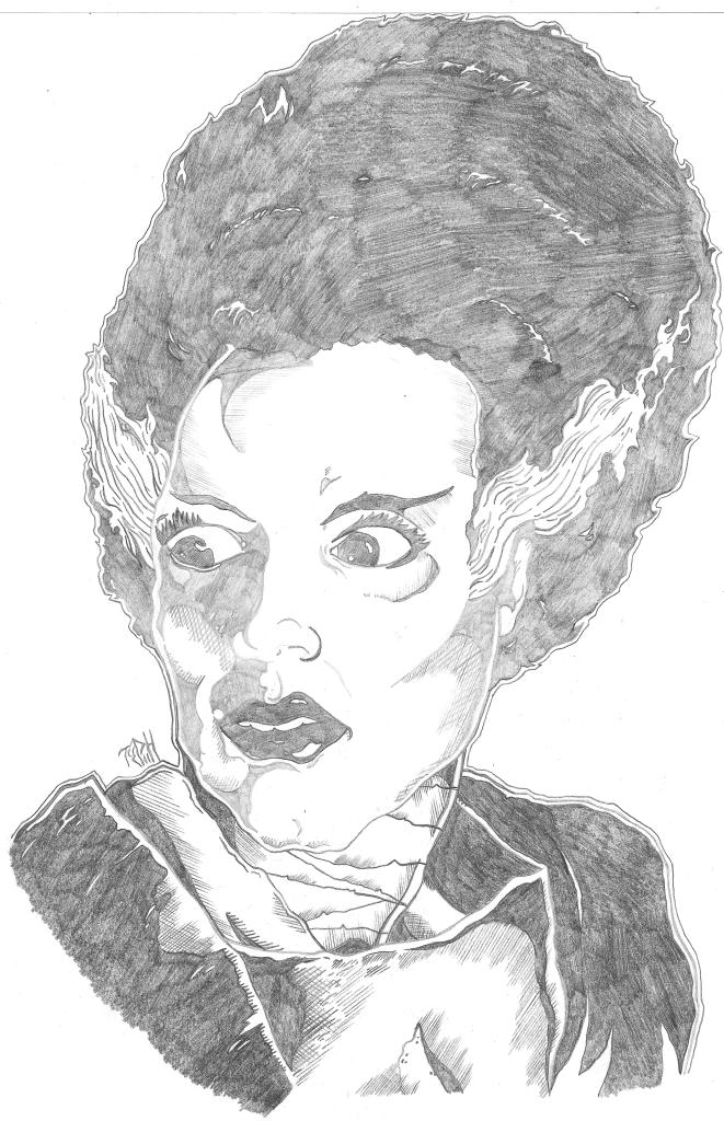 Movie tribute for the beautiful Bride Of Frankenstein!