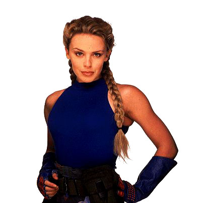 Kylie Minogue as Cammy in the Street Fighter movie