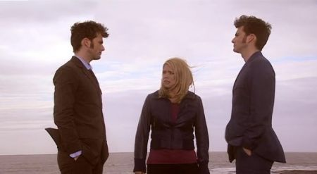 The Doctor must leave Rose and the Human version of himself on the parallel earth. He leaves them in Bad Wolf Bay.