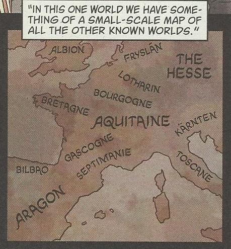 Map of where some of the Homelands would fit into the real world.