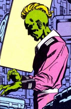 Brainiac Working For the Computer Tyrants of Colu