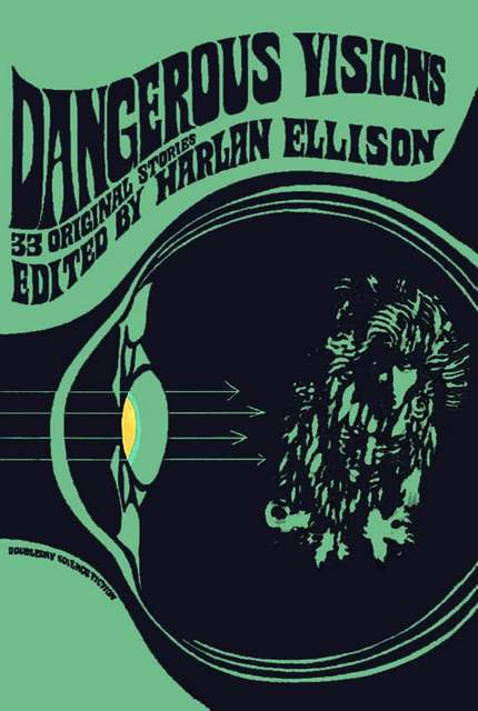 Dangerous Visions cover by Leo and Diane Dillon