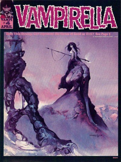 Jeff Jones and Vaughn Bode cover of Vampirella #4