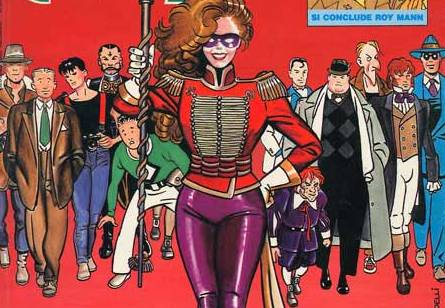 Some of Comic Art characters as in the cover of Comic Art #45.