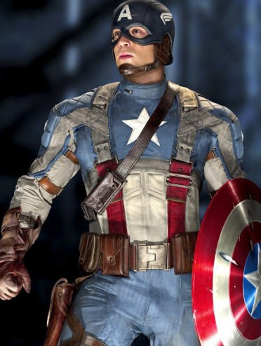 Chris Evans as Captain America in CA:TFA
