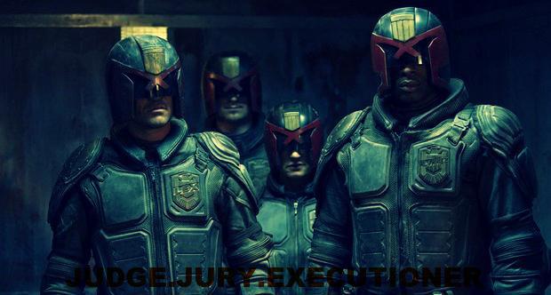 Judges in the 2012 Dredd film