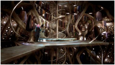 The TARDIS wardrobe room