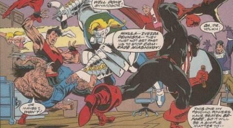The Bogatyri vs Wolverine & the West Coast Avengers.