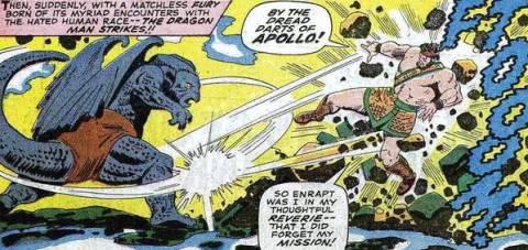 Dragon Man vs Hercules.
