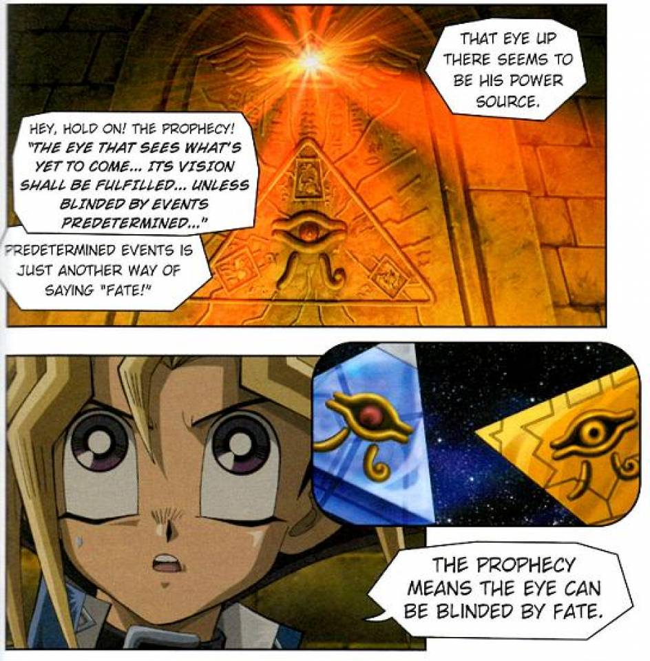 Yugi figures out the prophecy.