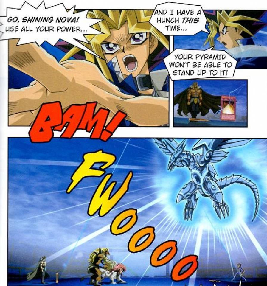 Yami brings back Seto's Blue-Eyes Shining Dragon