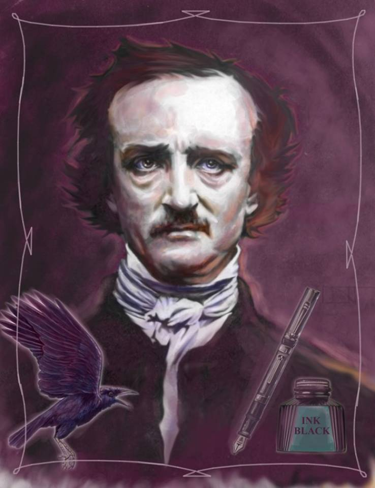 Edgar Allan Poe (With Raven)