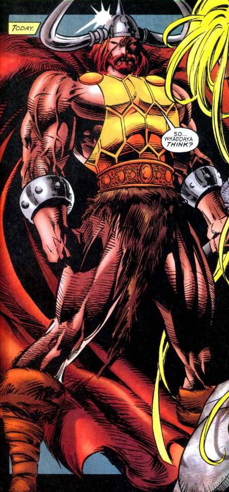 Red Norvell with the Power of Thor